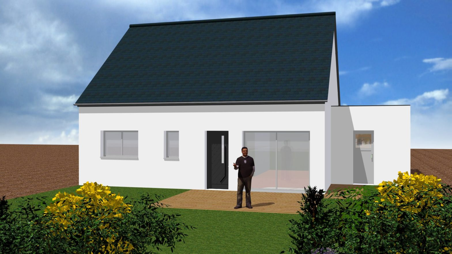 Maison plain pied 3 chambres habitat conception