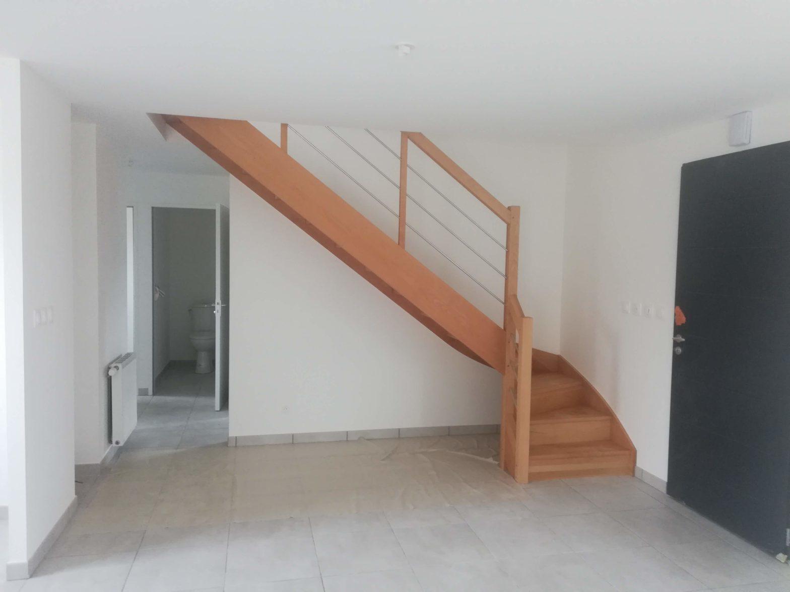 Escalier M et CM Bois-inox,RIAUX