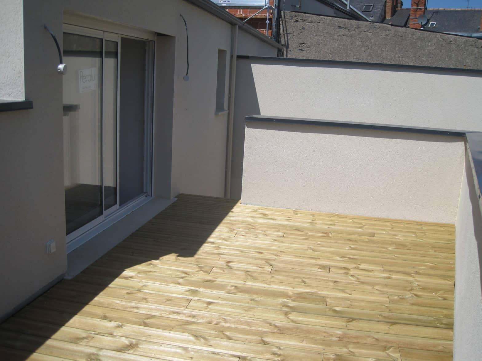 Terrasse exterieure bois, autoclave à Angers