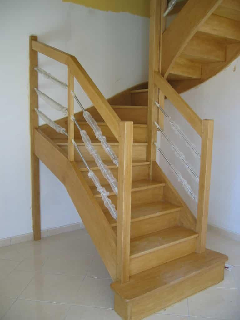 escalier double quart tournant escalier riaux juigne sur loire 49