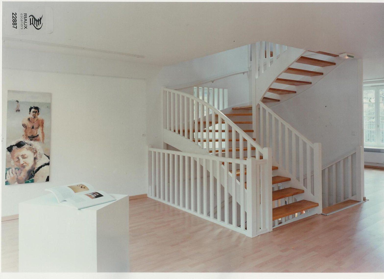 escalier double quart tournant escalier riaux montreuil-juigné 49