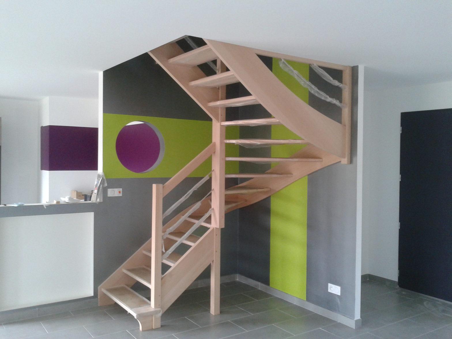 escalier double quart tournant riaux escalier 49 Saint barthelemy d'anjou