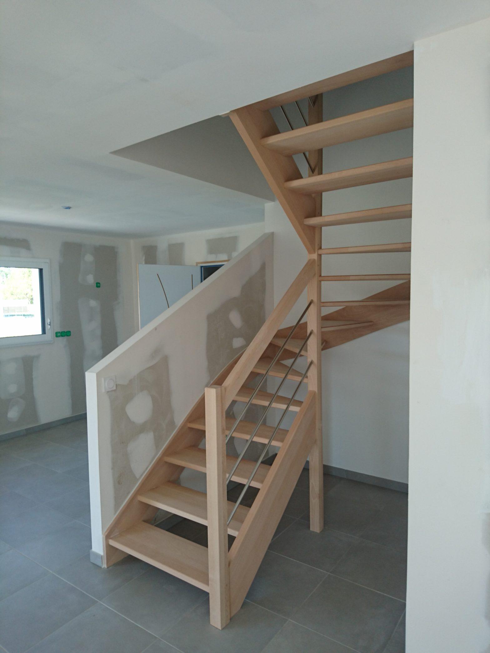 escalier double quart tournant riaux escalier 49124 le plessis grammoire