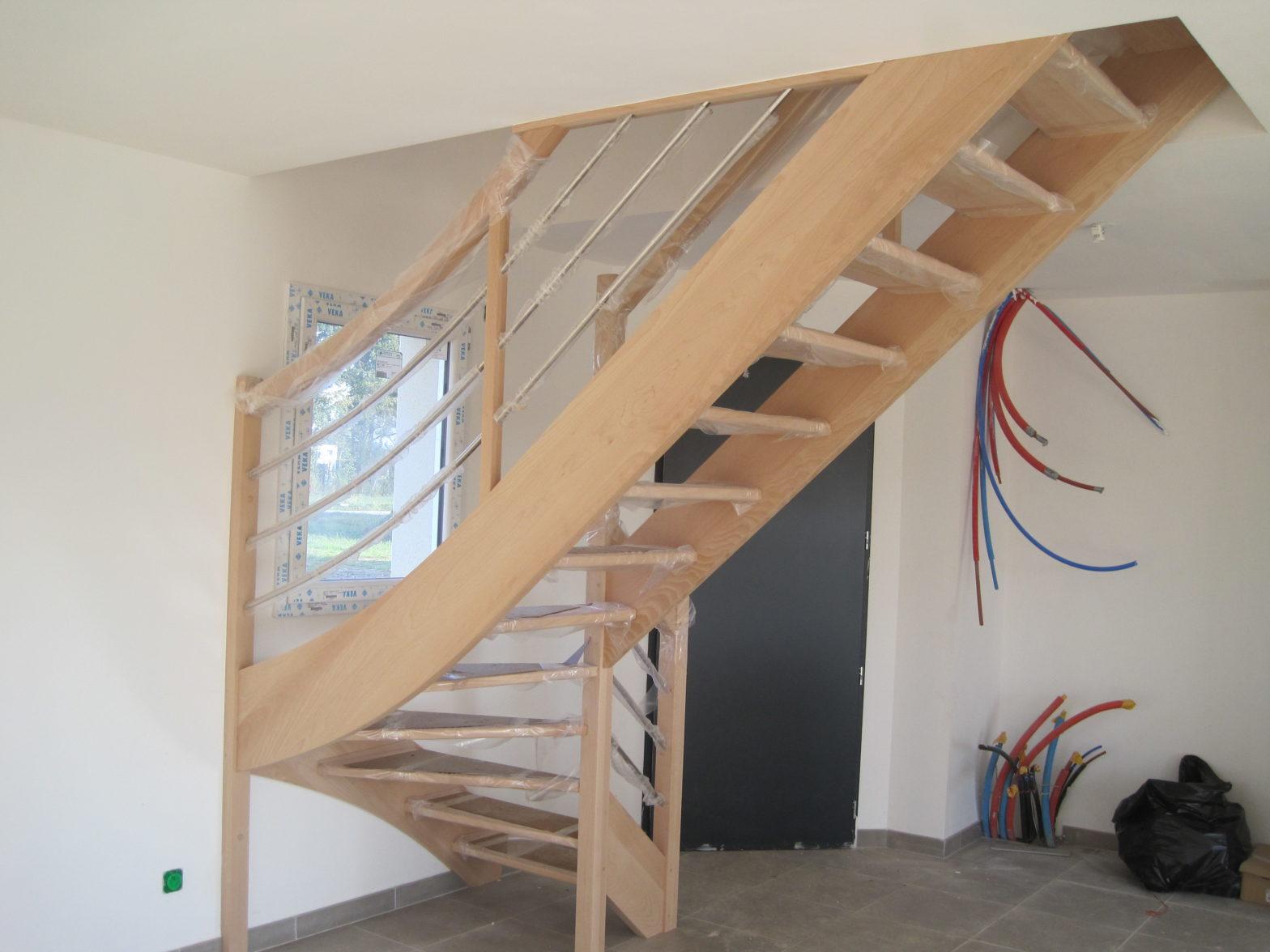 escalier quart tournant esaclier riaux montreuil-juigné 49