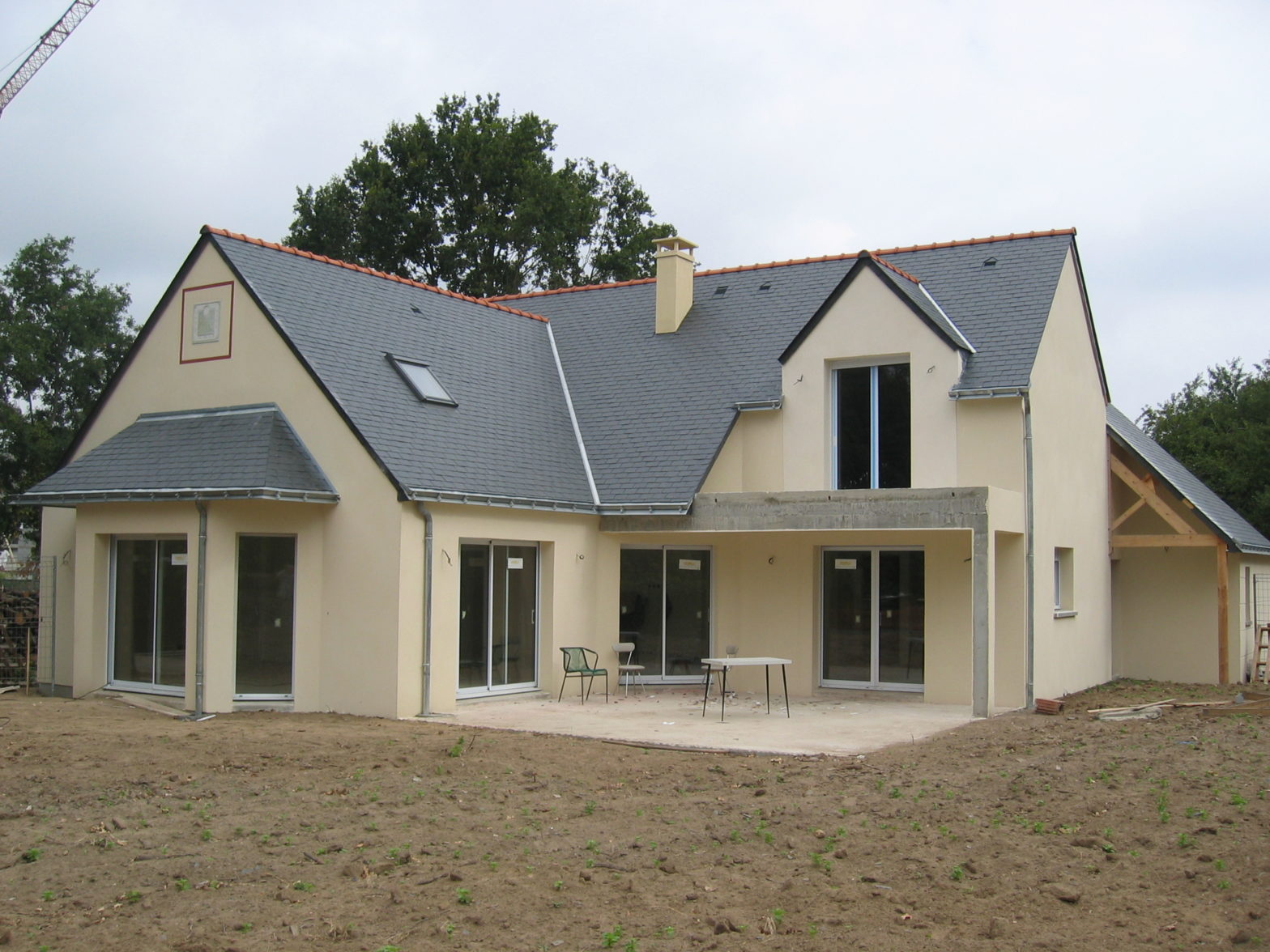 maison, etage, comble, toiture ardoise, angers