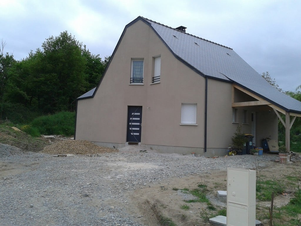 maison,etage,comble, toiture ardoise, angers