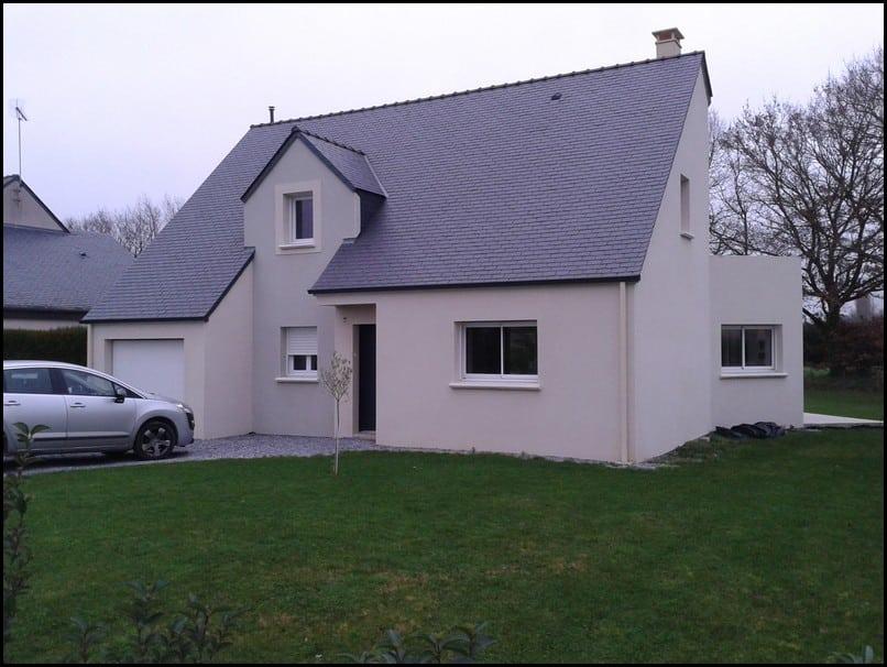 maison, etage, comble, toiture ardoise, corne