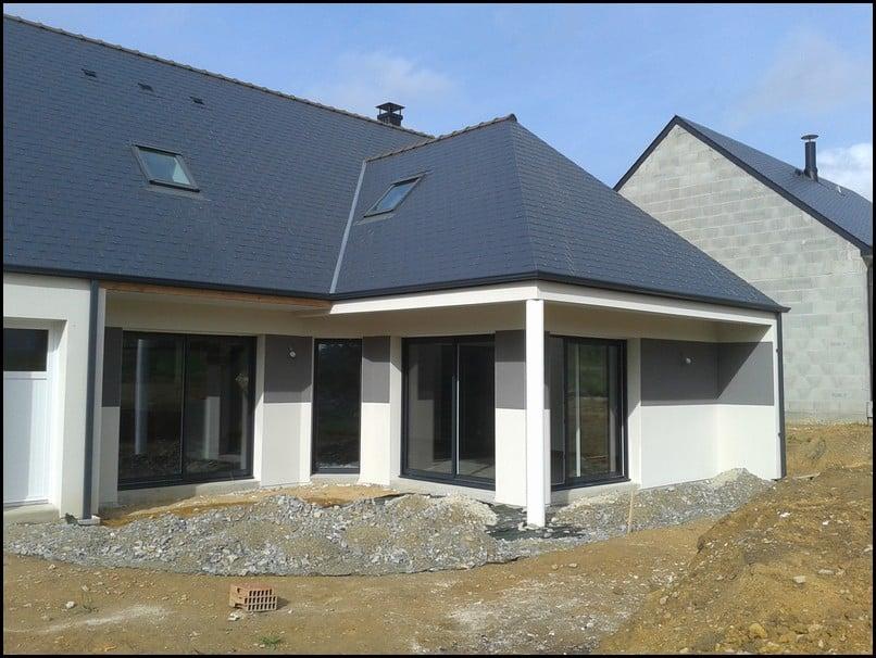 maison, etage, comble, toiture ardoise, corze
