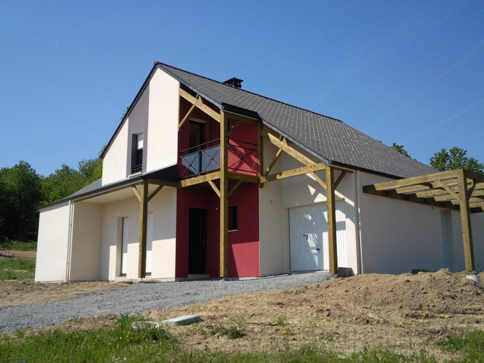 maison etage comble toiture ardoise loire-authion 49