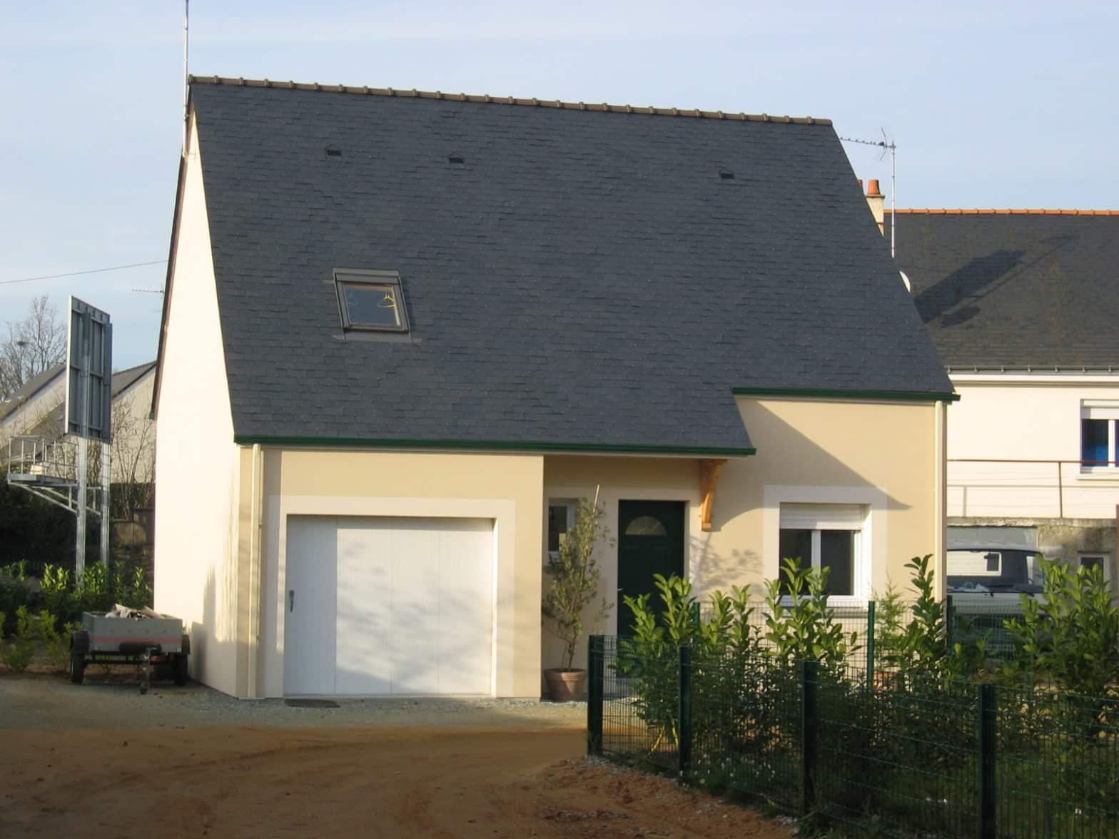 maison à comble aménagé toiture ardoise