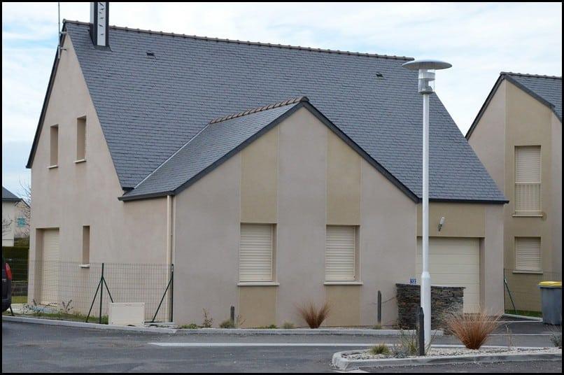 maison etage comble toiture ardoise trelaze 49800