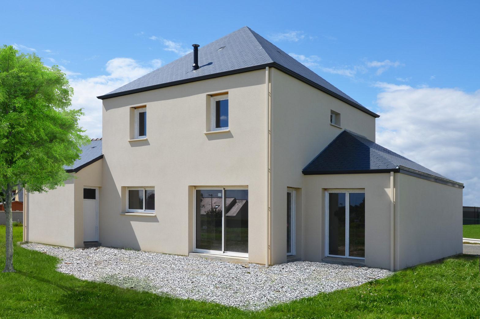 maison etage r+1 toit ardoise saint martin des bois 49