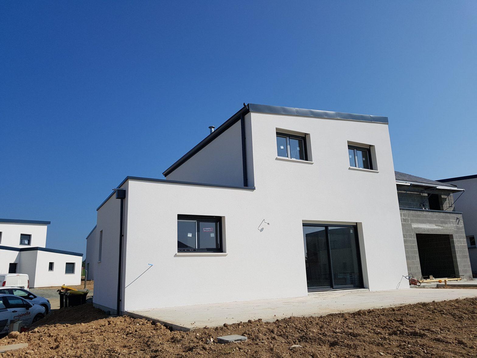 maison etage r+1 toit monopente 49070 beaucouze