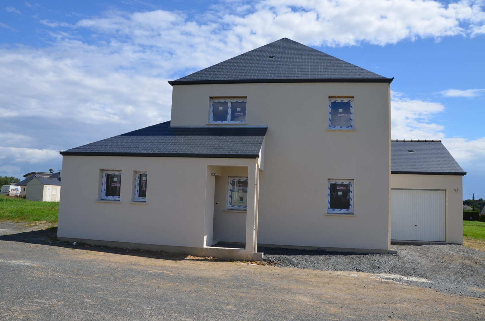 maison etage r+1 toit monopente 49125 briolay