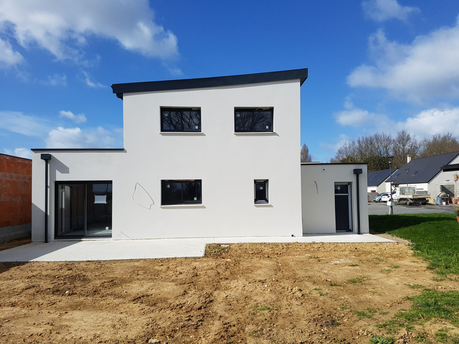 maison etage r+1 toit monopente 49220 grez neuville