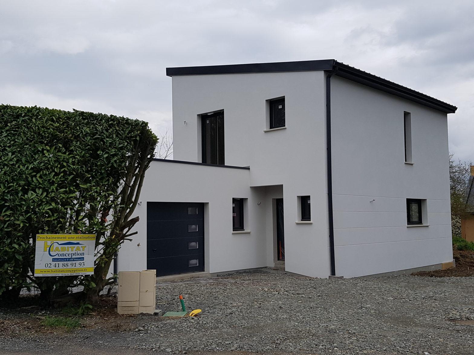 maison etage r+1 toit monopente 49610 murs-erigne