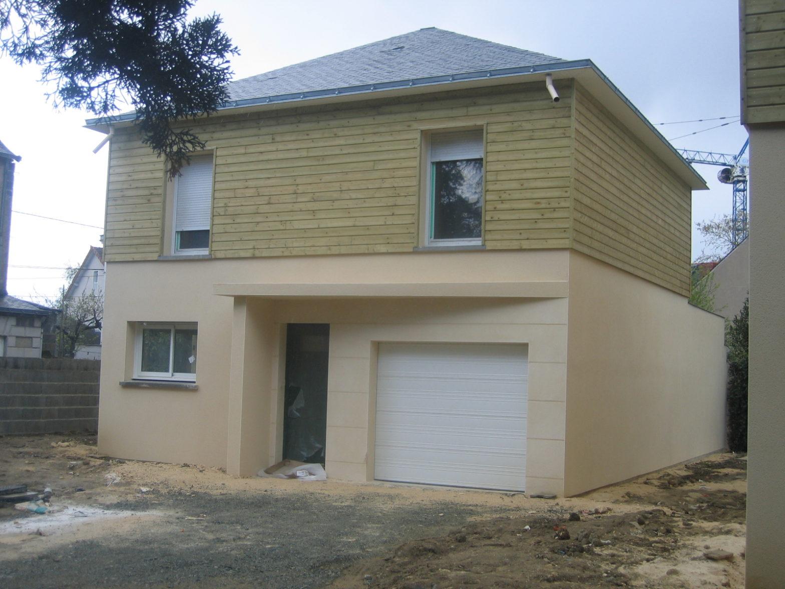 maison etage r+1 toit monopente angers 49