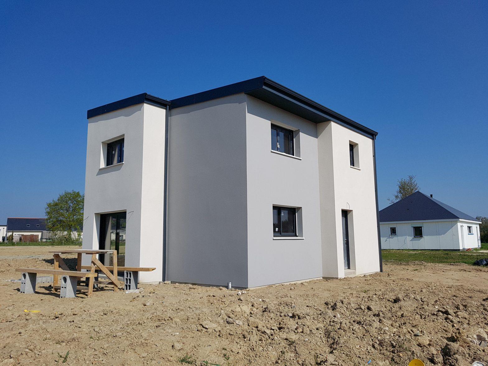 maison etage r+1 toit monopente briollay 49