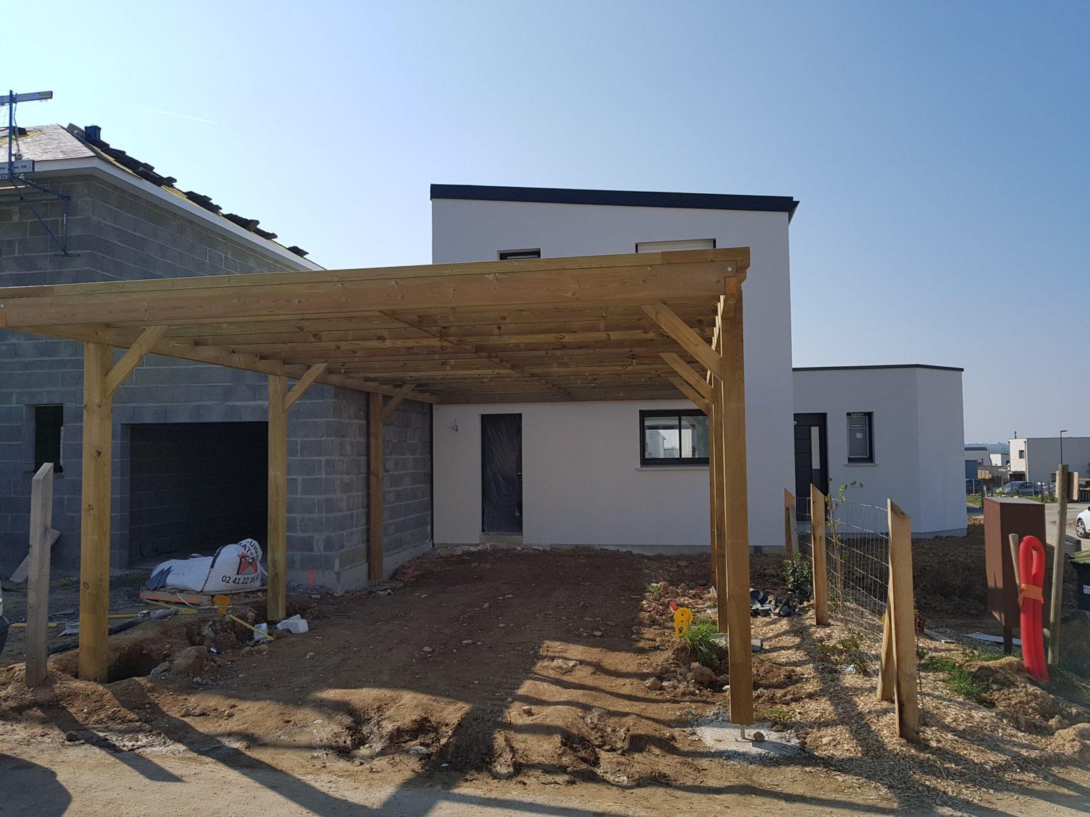 maison etage r+1 toit monopente le lion d'angers