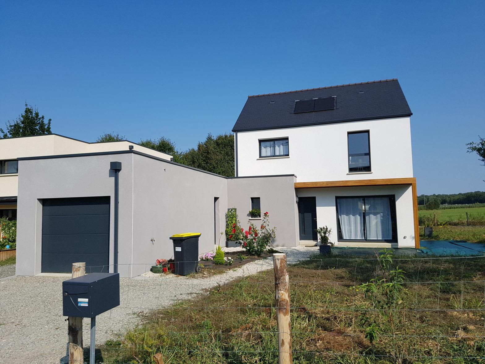 maison etage r+1 toit monopente le plessis grammoire 49124