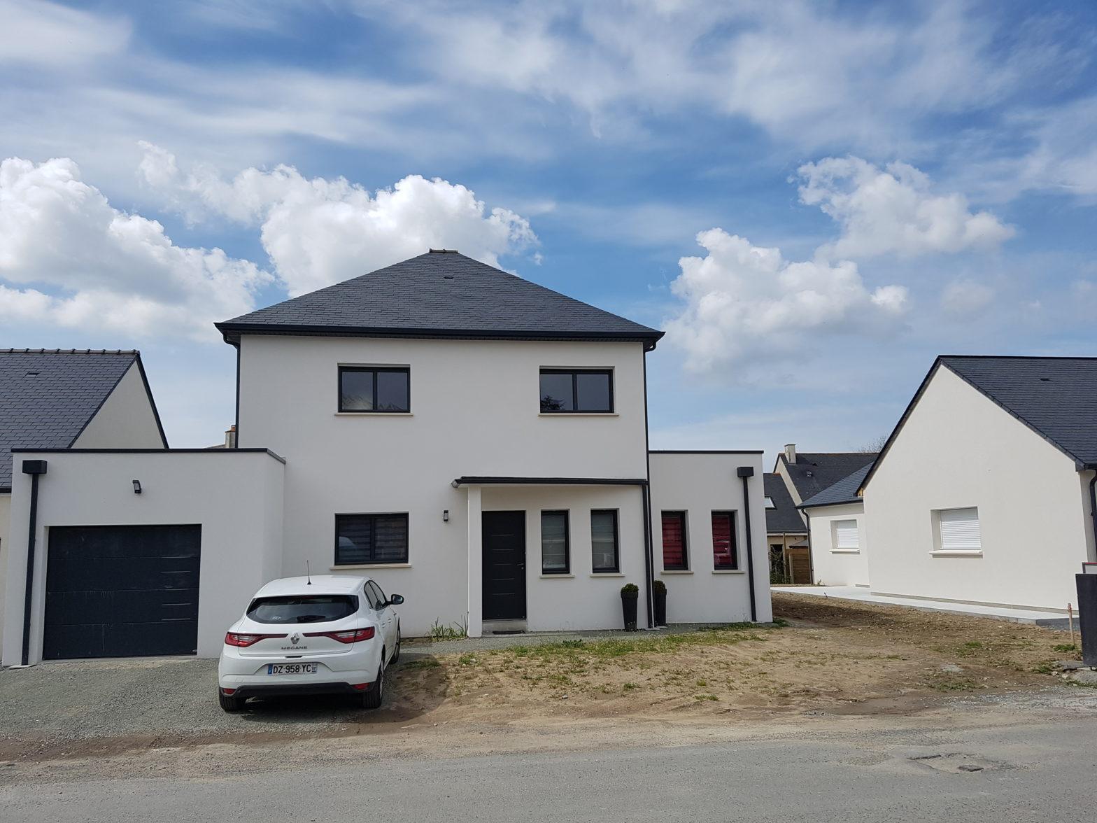 maison etage r+1 toit monopente le plessis grammoire 49