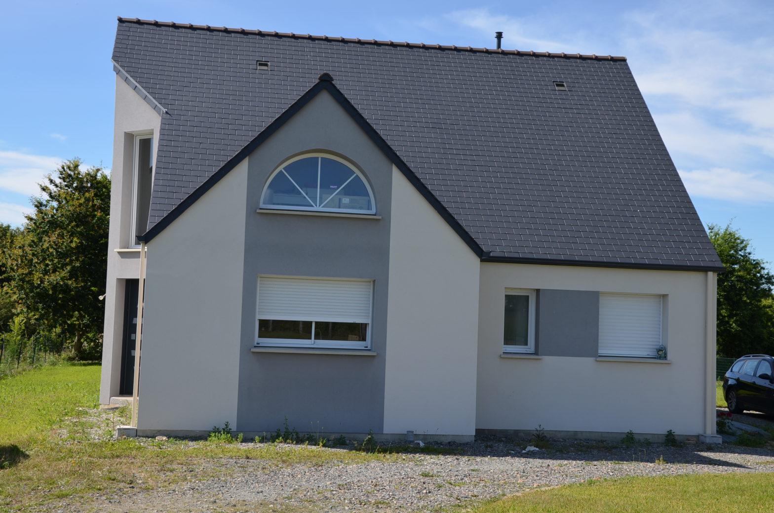 maison etage r+1 toiture monopente 49 tierce