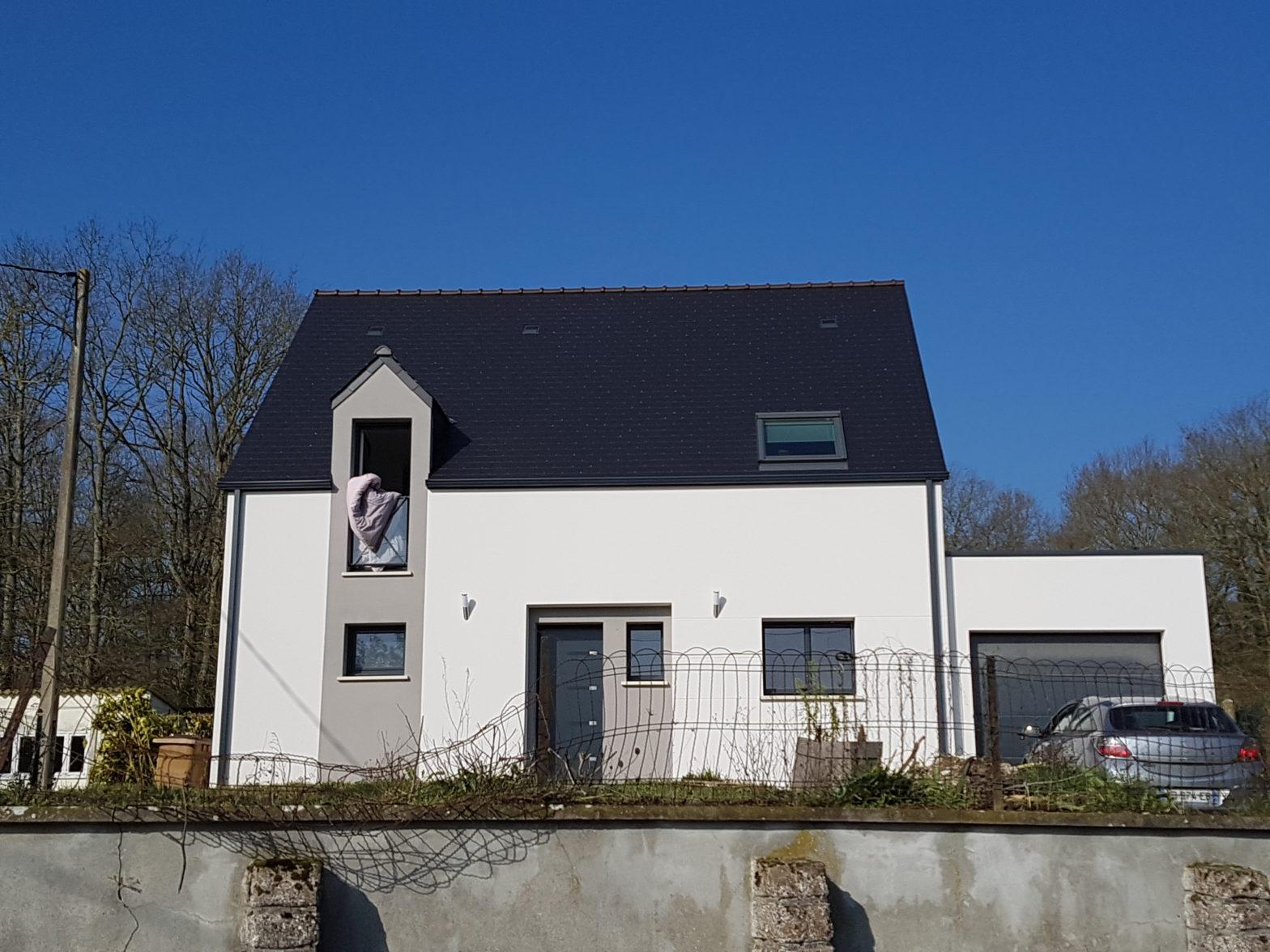 maison etage r+1 toiture monopente avrille 49240