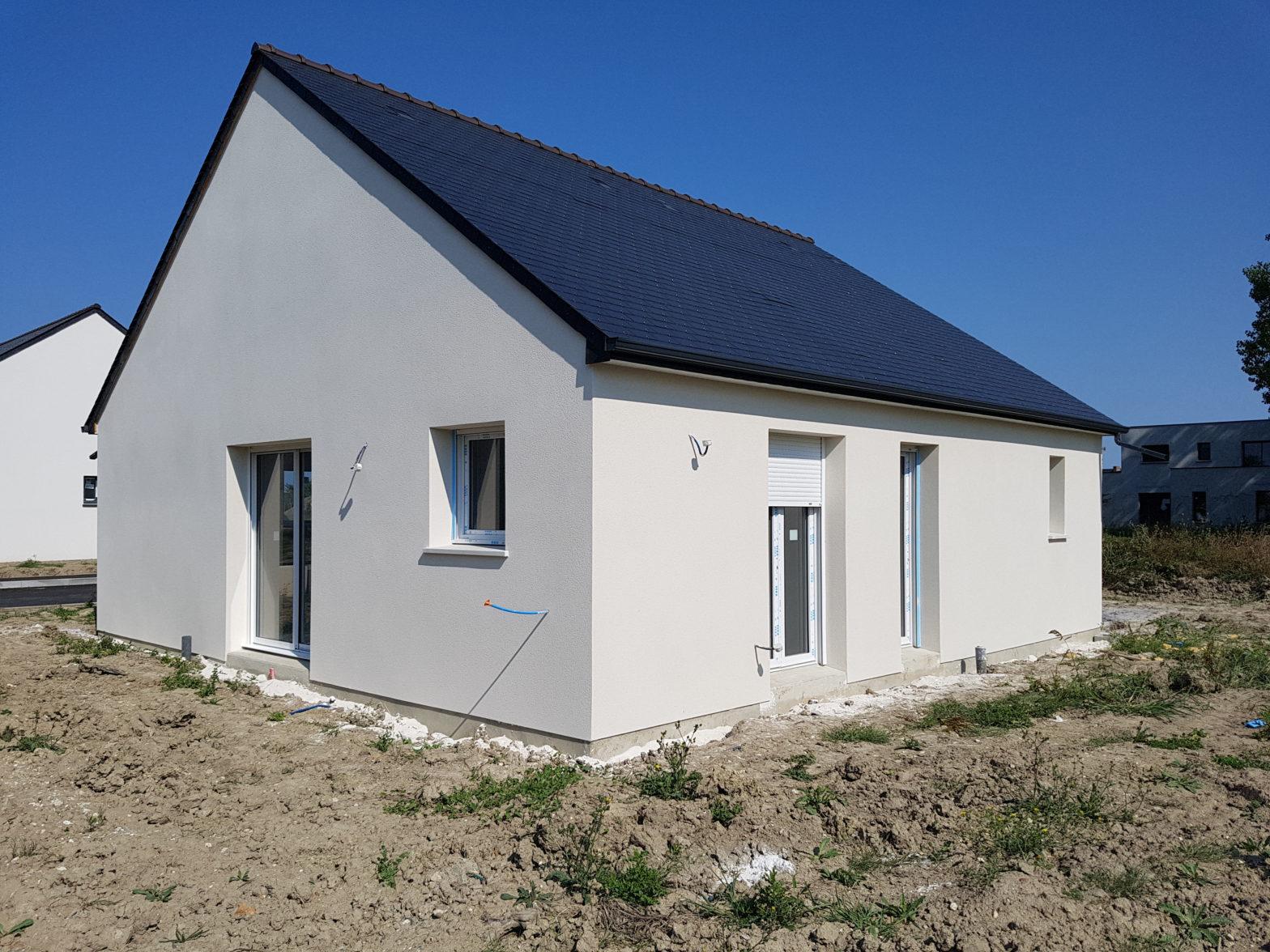 maison plain-pied toiture ardoise longué 49