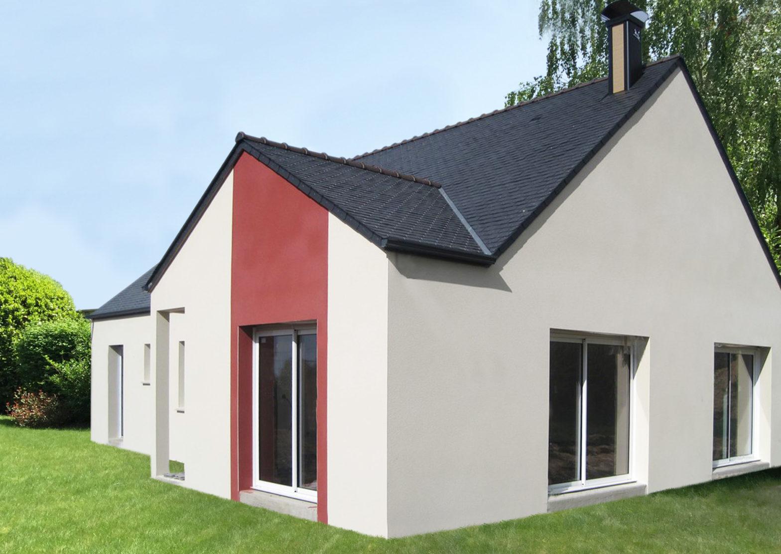 maison plain-pied toiture ardoise maze-millon