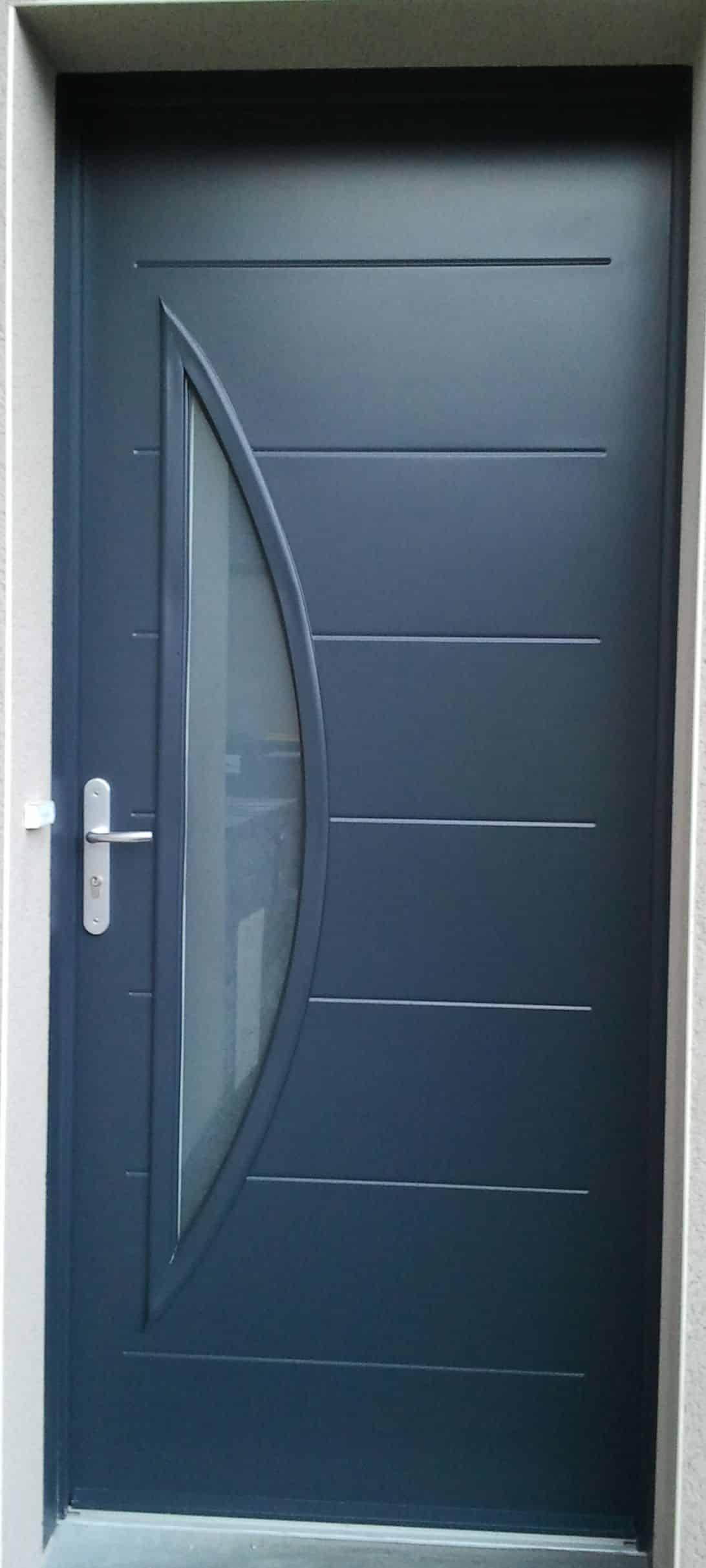 Porte entrée gris 7016 à Angers